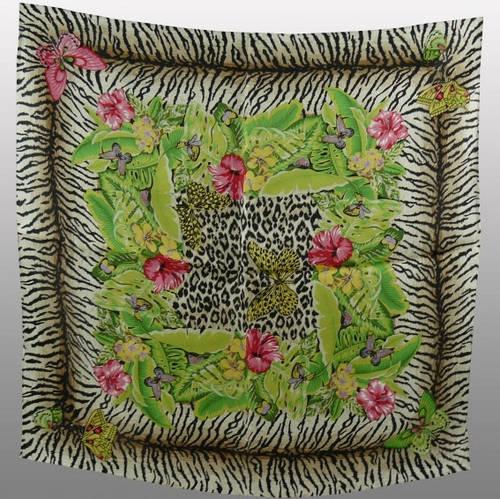 Яркий женский шейный шелковый платок размером 50*50 см VENERA (ВЕНЕРА) C270089-14