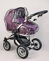 Универсальный силиконовый дождевик на коляску 0309, Baby Breeze