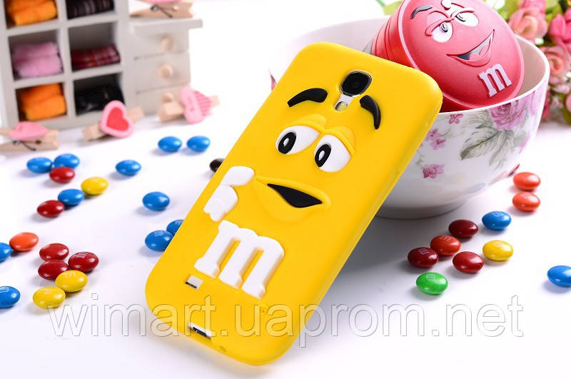 Чехол M&M's для Samsung Galaxy S4 Mini I9190 желтый