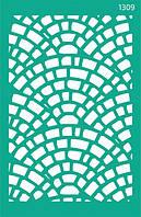 """Трафарет многоразовый самоклеющийся, Фоновый13*20 см, №1309, Серия """"Абстракция"""" ROSA Talent"""