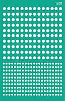 """Трафарет многоразовый самоклеющийся, Фоновый13*20 см, №1301, Серия """"Абстракция"""" ROSA Talent"""