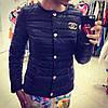 Женская куртка Шанель на синтепоне значок ЖЕЛЕЗНЫЙ (5-цветов)