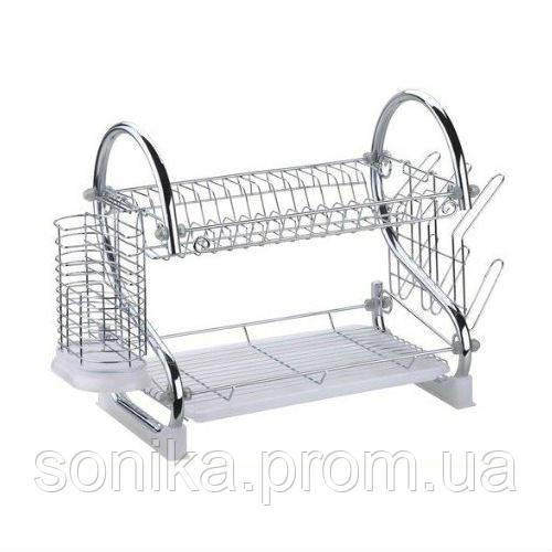 Сушка для посуду металева двоярусна New Arrival Home Line