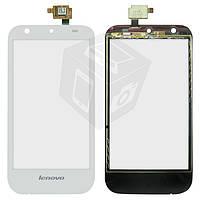 Сенсорный экран (touchscreen) для Lenovo S680, белый, оригинал