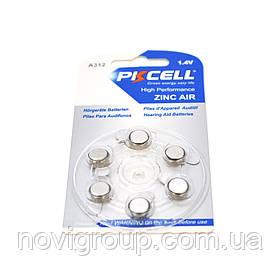 Батарейка повітряно цинкова PKCELL 1.4V ZA13, 6 штук в блістері, ціна за блістер, Q