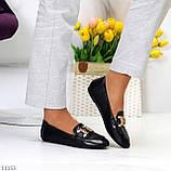 Универсальные комфортные черные женские мокасины с декором цепь 38-24см, фото 10