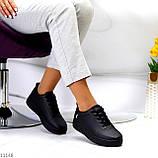Молодіжні чорні жіночі повсякденні кросівки під джинси 39-25,5 см, фото 2