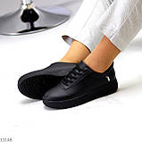 Молодіжні чорні жіночі повсякденні кросівки під джинси 39-25,5 см, фото 3