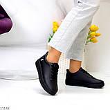 Молодіжні чорні жіночі повсякденні кросівки під джинси 39-25,5 см, фото 4