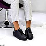 Молодіжні чорні жіночі повсякденні кросівки під джинси 39-25,5 см, фото 5