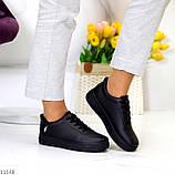 Молодіжні чорні жіночі повсякденні кросівки під джинси 39-25,5 см, фото 6