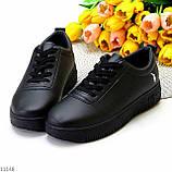 Молодіжні чорні жіночі повсякденні кросівки під джинси 39-25,5 см, фото 7