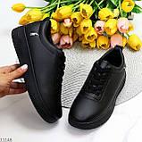 Молодіжні чорні жіночі повсякденні кросівки під джинси 39-25,5 см, фото 10