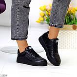 Повсякденні шкіряні чорні жіночі молодіжні кросівки натуральна шкіра, фото 10
