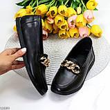 Шкіряні чорні жіночі мокасини натуральна шкіра з декором 38-24,5 см, фото 10