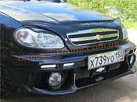 Передний бампер SX из стеклопластика для Chevrolet Lanos (ZAZ Chance)