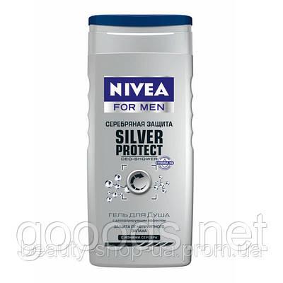 """Гель для душа для мужчин Nivea """"Серебряная защита"""" 250 мл"""