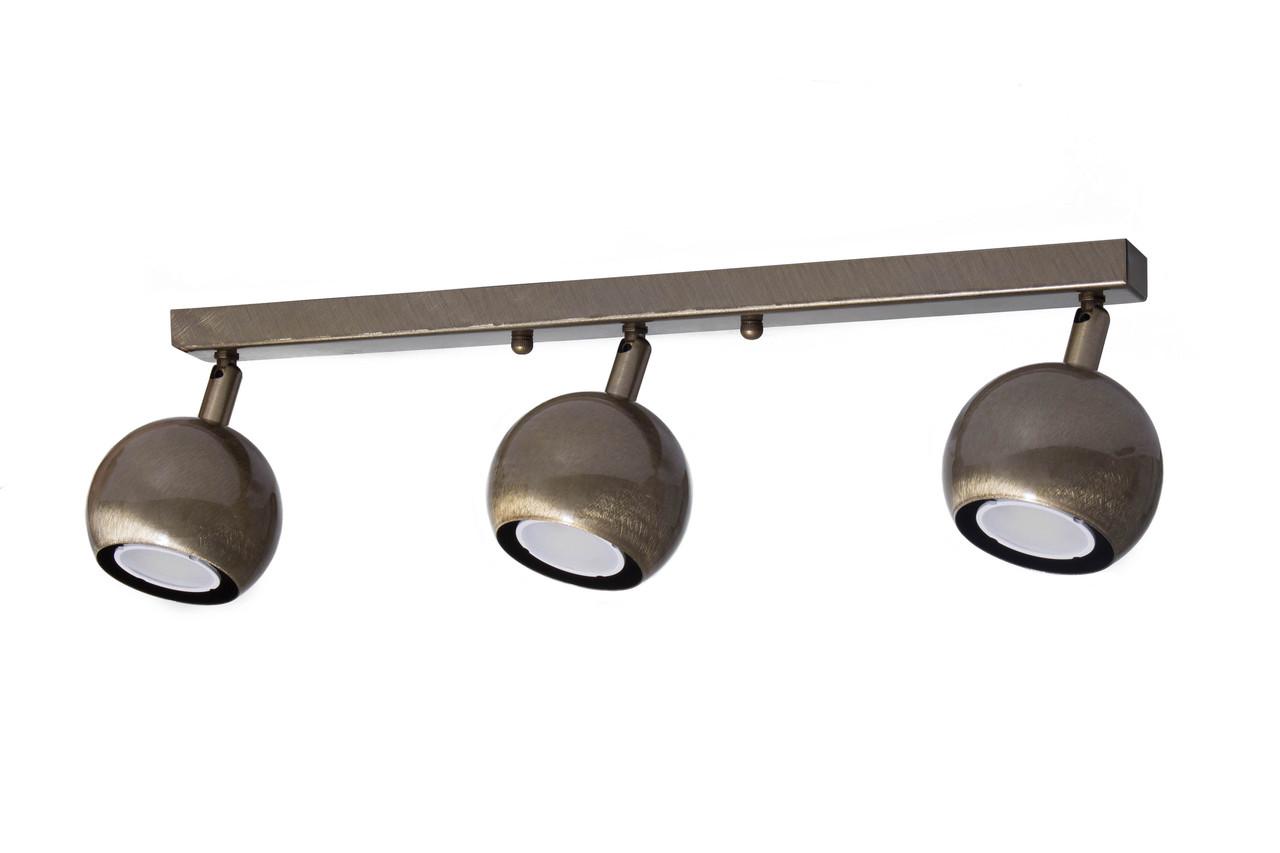 Світильник стельовий MSK Electric Core спот з поворотними плафонами NL 11151-3 BN