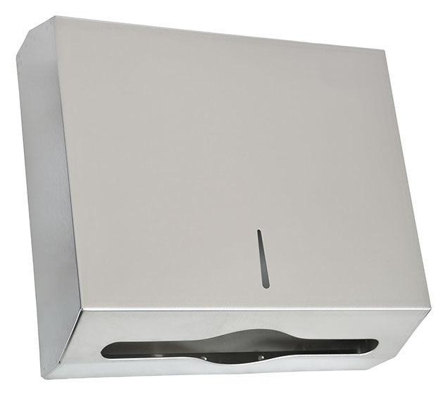 Диспенсер для бумажных полотенец универсальный C, V и Z укладка, нержавеющая сталь, 5320