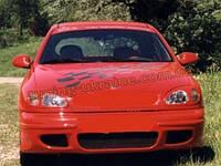 Передний бампер из стеклопластика для Chevrolet Lanos (ZAZ Chance)