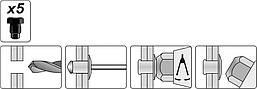 Заклепочник двуручный 330 мм Yato YT-3609, фото 2