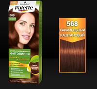 Стойкая краска для волос Palette Фитолиния 568 Карамельный каштановый