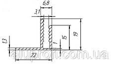 F-профиль алюминиевый угловой  под лист 3мм