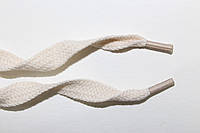 Шнурки плоские Х/Б 10мм. молоко