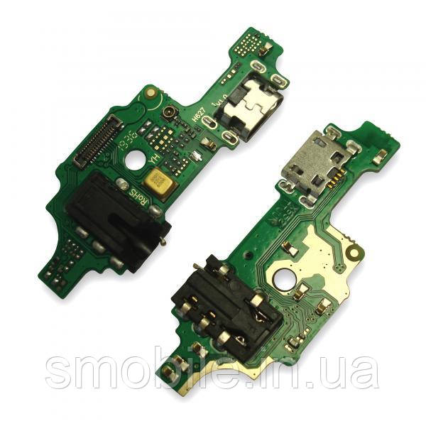 Разъем зарядки Tecno Spark 5 Pro на плате с разъемом под наушники и микрофоном (копия AA)