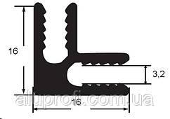 Уголок  алюминиевый стыковочный под лист 3мм