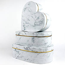 Подарочная коробка СЕРДЦЕ  (комплект 3 шт.)