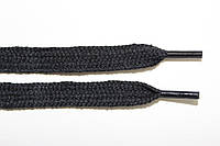 Шнурки плоские Х/Б 10мм. черный