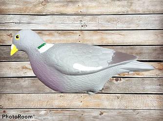 Подсадное чучело голубь пластмассовый 30 см на палке