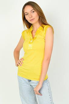 Футболка женская желтая ААА 134696S