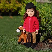 Кукла жокей MM1805-06-08-12 с нарядом и животным