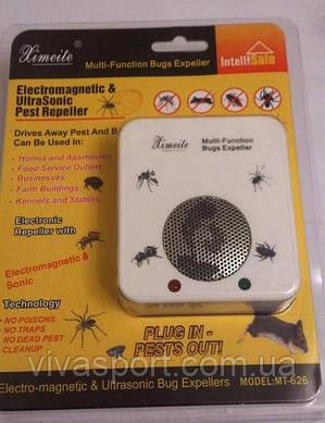 Ультразвуковой отпугиватель грызунов и насекомых Ximeite МТ-626, электромагнитный отпугиватель Ксимейт