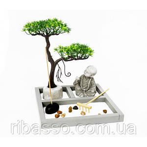 """Дзен набір """"Сад каменів"""" Чернець під деревом"""