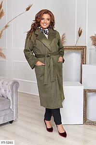 Женское Пальто замшевое 50-52, 58-60, 62-64, 54-56