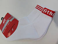 Носки Athletic белые с красным (ww002-1) код 95Г
