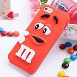 Чехол M&M's для Apple iPhone 4/4s голубой, фото 3