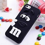 Чехол M&M's для Apple iPhone 4/4s голубой, фото 4