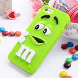 Чехол M&M's для Apple iPhone 4/4s розовый, фото 4