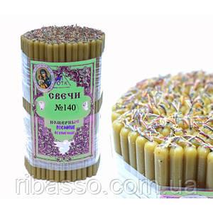 Свечи восковые церковные пучек 1 кг. Натуральный цвет №140