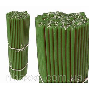 Свечи восковые пучек Зелёные №30