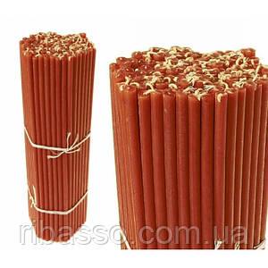 Свечи восковые пучек 1 кг. Красные №30 В упаковке 69 штук