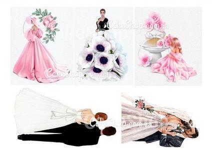 Вафельная картинка Свадебные