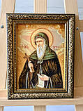 """Икона из янтаря """" Святой Преподобный Антоний Великий  """" 15x20 см , Св. Антоній  ікона з бурштину 15x20 см, фото 4"""