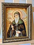 """Икона из янтаря """" Святой Преподобный Антоний Великий  """" 15x20 см , Св. Антоній  ікона з бурштину 15x20 см, фото 3"""