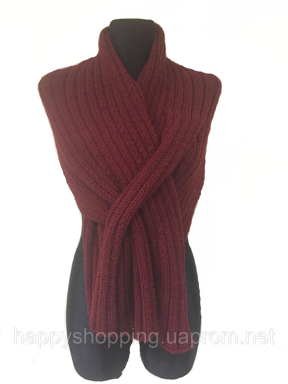 Бордовый шарф HooS