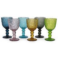 Набор из 6-ти разноцветных бокалов из стекла Corinto